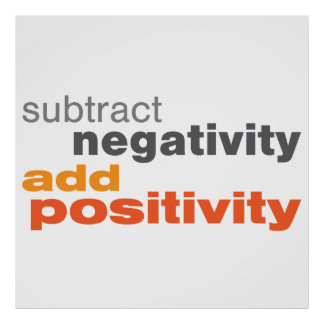 Subtract Negativity and Add Positivity Poster