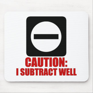 Subtraction 1 Red Mouse Pads