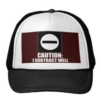 Subtraction 1 White Trucker Hat