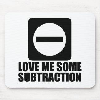 Subtraction 2 Black Mousepads