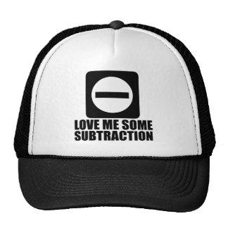 Subtraction 2 Black Trucker Hat