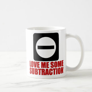 Subtraction 2 Red Coffee Mugs