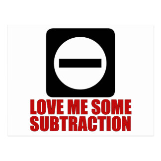 Subtraction 2 Red Postcard