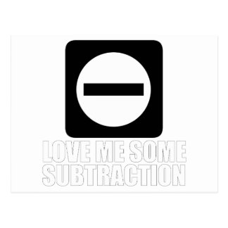 Subtraction 2 White Postcard