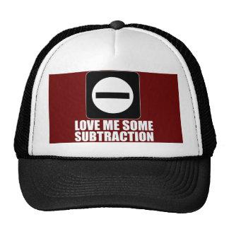 Subtraction 2 White Trucker Hat
