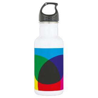 Subtractive Color Mixing Chart 18oz Water Bottle