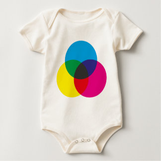 Subtractive Color Mixing Chart Baby Bodysuits