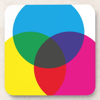 Subtractive Color Mixing Chart Drink Coaster