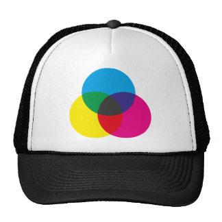 Subtractive Color Mixing Chart Trucker Hats