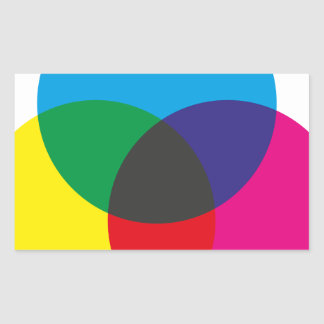 Subtractive Color Mixing Chart Rectangular Sticker