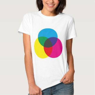 Subtractive Color Mixing Chart Shirts