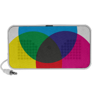 Subtractive Color Mixing Chart Speaker System