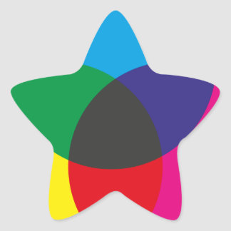 Subtractive Color Mixing Chart Star Sticker