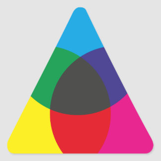 Subtractive Color Mixing Chart Triangle Sticker