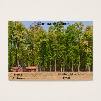 Subtropical forest and tractor business card