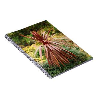 Subtropical vegetation spiral notebook