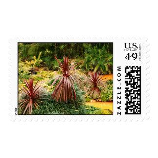 Subtropical vegetation postage stamp