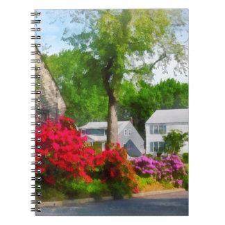 Suburban Azalea Garden Spiral Note Books