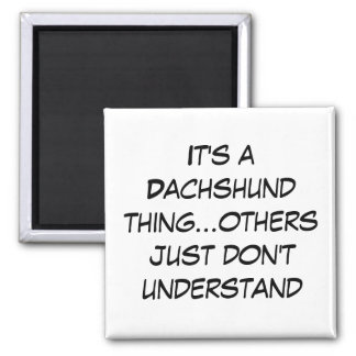 Suburban Chicagoland Dachshund Lovers 2 Inch Square Magnet