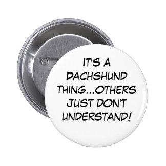 Suburban Chicagoland Dachshund Lovers Button