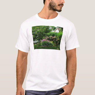 Suburban Garden With Roses T-Shirt