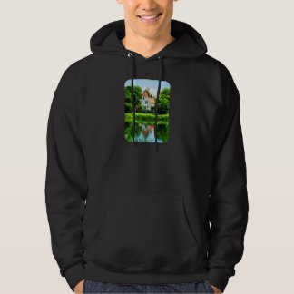 Suburban House with Reflection Hooded Pullover