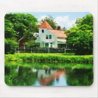 Suburban House with Reflection mousepad