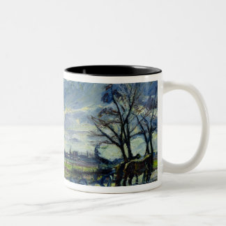 Suburban Landscape in Spring Two-Tone Coffee Mug