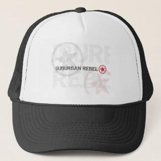 Suburban Rebel distressed print Trucker Hat