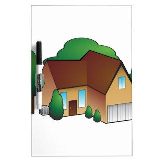 Suburban Residential Home Icon Dry-Erase Whiteboards