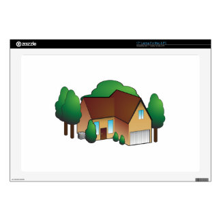 Suburban Residential Home Icon Skin For Laptop