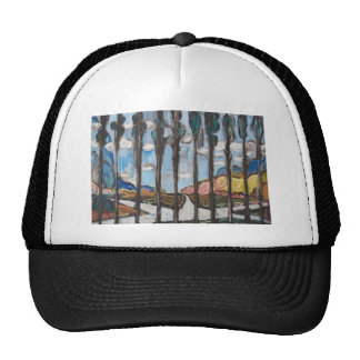 Suburban Road Junction on a sunny winter day Trucker Hat