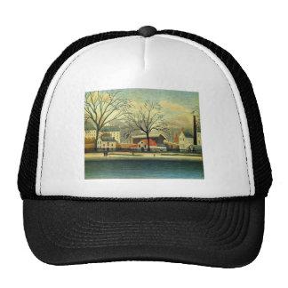 Suburban Scene by Henri Rousseau Trucker Hat