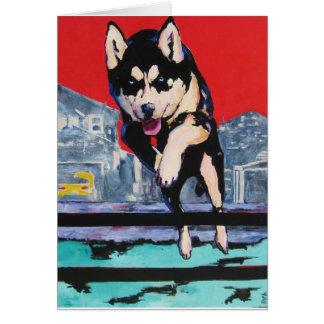 Suburban Wolf Card
