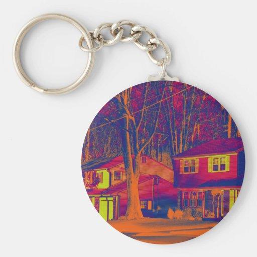 Suburbia Altered Keychain