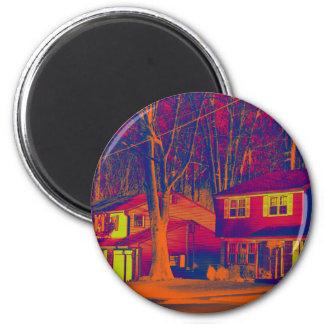 Suburbia Altered Round Magnet