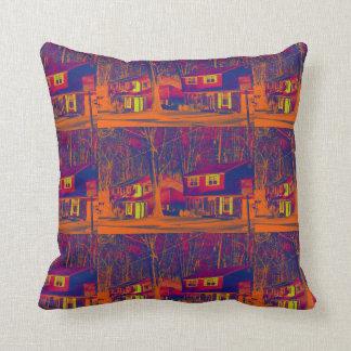 Suburbia Altered Throw Pillow