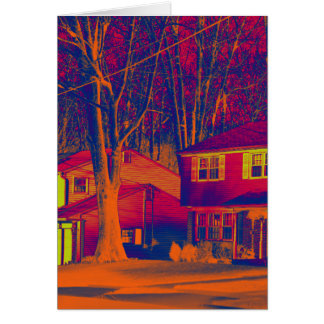 Suburbia Altered Vertical Greeting Card