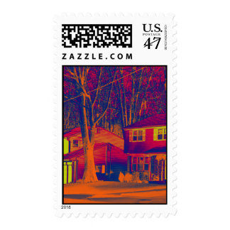 Suburbia Altered Vertical Postage