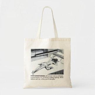 Suburbios del kitsch del vintage que broncean la bolsa tela barata