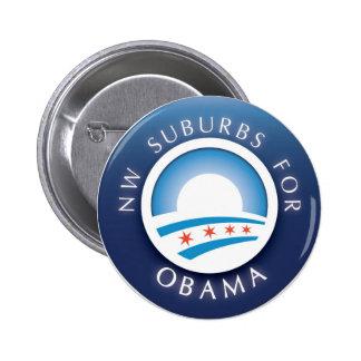 Suburbios del nanovatio para el botón de Obama Pins
