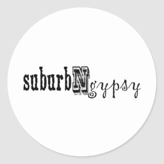 suburbngypsy classic round sticker
