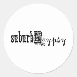 suburbngypsy pegatina redonda
