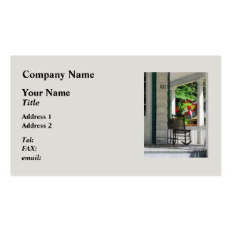 Suburbs - Porch With Rocking Chair and Geraniums Double-Sided Standard Business Cards (Pack Of 100)