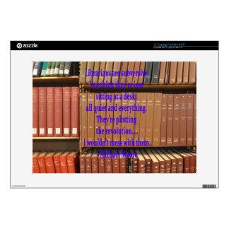"Subversive librarians decals for 15"" laptops"