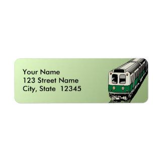 Subway Address Label