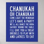 Subway Art | Chanukah Oh Chanukah Posters