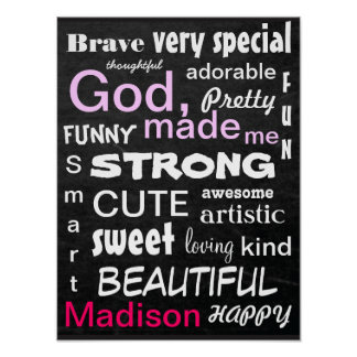 Subway ART Personalize for a Girl Print