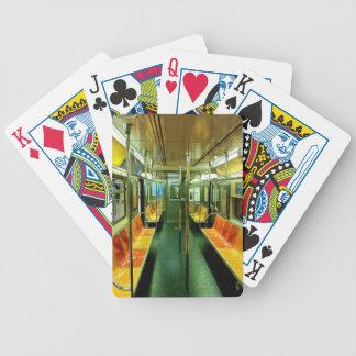 Subway Car Bicycle Playing Cards
