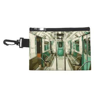 Subway Car Within the Metal Accessory Bags